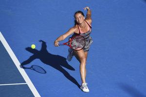 Viktória Kužmová na turnaji v Aucklande - ilustračná fotografia.