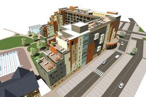 Hotel, ktorý začali stavať priamo v priestore akvaparku, bude počtom lôžok najväčším v regióne.