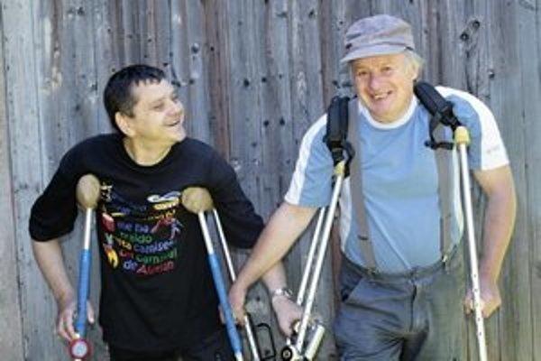 Ivan Šobáň (vľavo) s Daliborom Novotným.