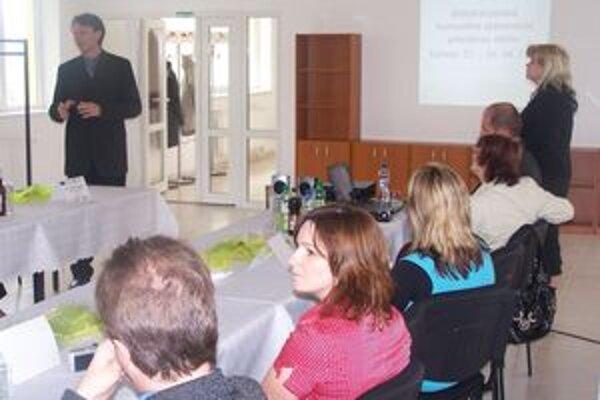 Prezentácia programu pred pedagógmi Vsetína a Pruského.