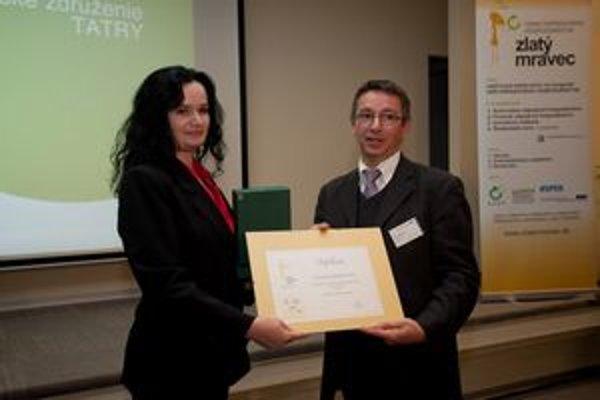 Prestížne ocenenie za inovatívny čin roka prevzala Jana Júdová.