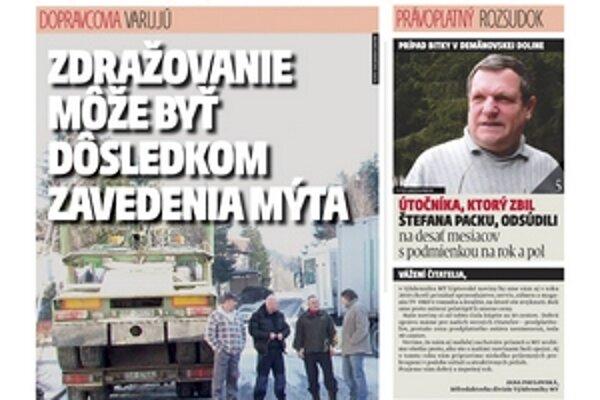 Dnes vyšlo prvé číslo MY Liptovské noviny v novom roku 2010.