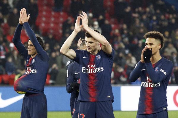 Futbalisti Paríža St. Germain - ilustračná fotografia.