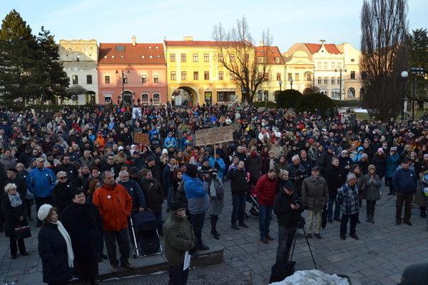 Protesty v Prešove.