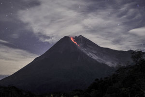 Indonézska sopka Merapi.
