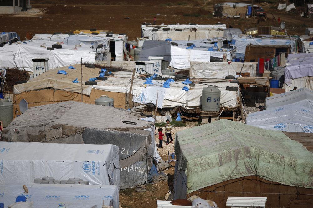Preplnený utečenecký tábor v Libanone