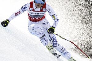 Vonnová na zjazdovke v Garmisch-Partenkirchene počas zjazdu Svetového pohára 6. februára 2016.