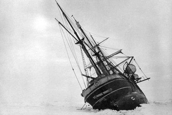 Potápajúca sa loď Endurance.