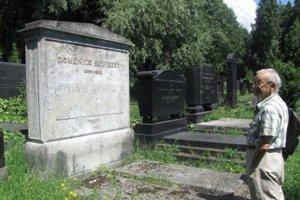 Hrob Dominika Skuteckého na židovskom cintoríne. Zaslúžil by si obnovu.