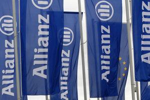 Vlajky nemeckej poisťovne Allianz.