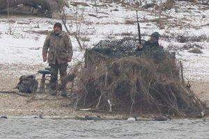 Taliani, ktorí brutálne poľovali na kačice z maďarského brehu Dunaja.