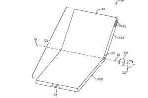 Nákres ohybného displeja od Apple v patentovej prihláške.
