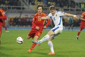Tomáš Hubočan odohral v reprezentácii 64 zápasov bez streleného gólu. Zúčastnil sa ME 2016.  Momentka z roku 2014.