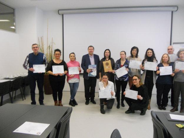 Certifikáty o absolvovaní stretnutia tímu v Trnave