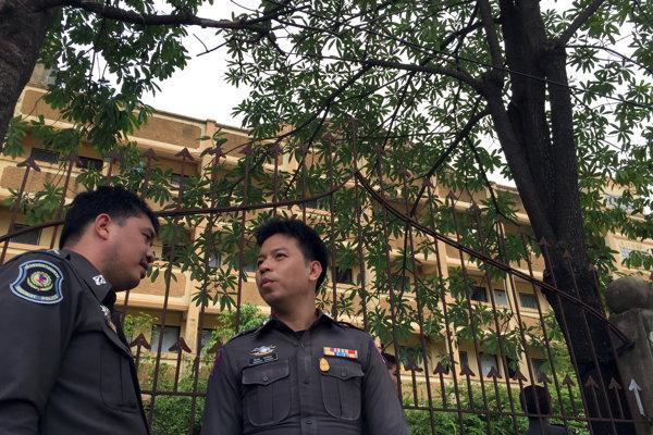 Thajskí policajti. Ilustračné foto