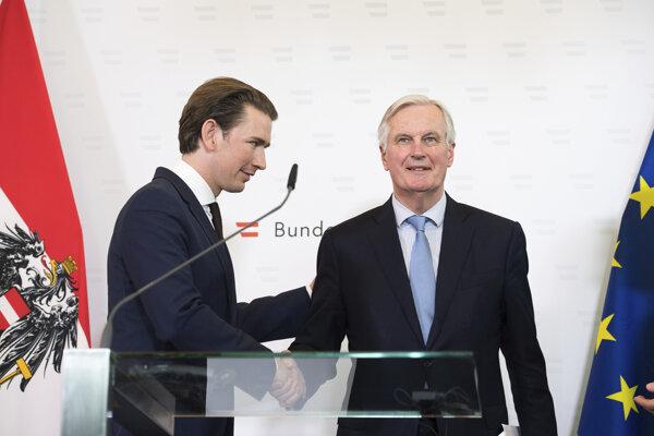 Sebastian Kurz Sebastian Kurz vo štvrtok vo Viedni hostil hlhavného vyjednávača Európskej únie pre brexit Michela Barniera.