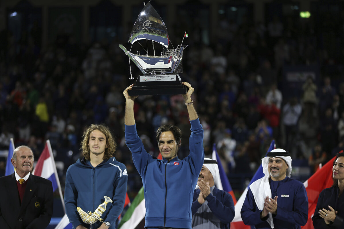 5e511d1221dd7 Roger Federer vyhral ATP Dubaj 2019 a má stý titul - Šport SME
