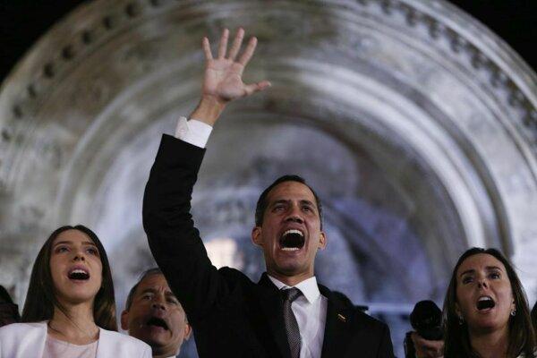 Juan Guaidó počas návštevy Argentíny.