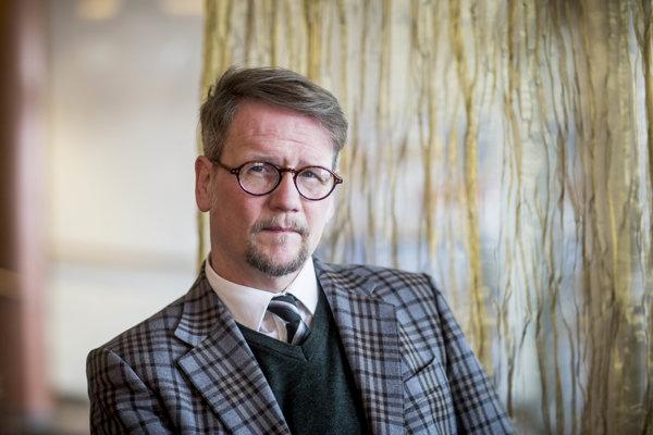 Spisovateľ Sjón na Slovensku predstavuje svoju najnovšiu knihu.