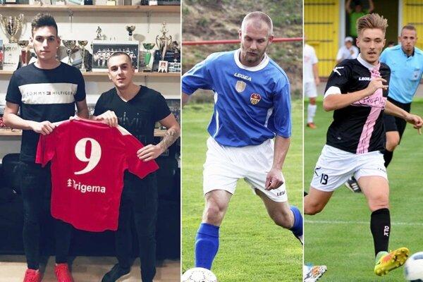 Do Paty prišiel okrem iných posíl mladý útočník Denis Paulovič (vľavo). Matej Porubský sa vrátil z Rakúska do Bábu. Marek Hrnčár si to namieril z Hrušovian do Čeľadíc.