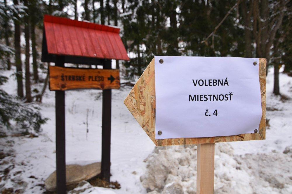 Voľby na Štrbskom Plese.