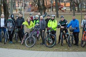 Účastníci februárovej cyklojazdy.