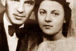 Svadobná fotografia Tatarku s manželkou Vierou.
