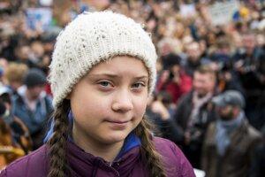Švédska tínedžerka a aktivistka za ochranu životného prostredia Greta Thunbergová.