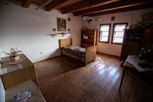 V minulosti táto izba vo veži slúžila aj na dočasné ubyrtovanie.