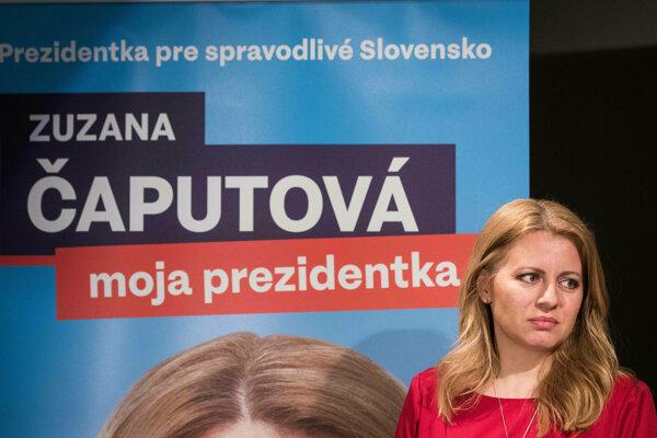 Víťazka prvého kola volieb Zuzana Čaputová.