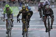Peter Sagan po prehratom súboji s Geraldom Ciolekom na Miláno - San Remo 2013.