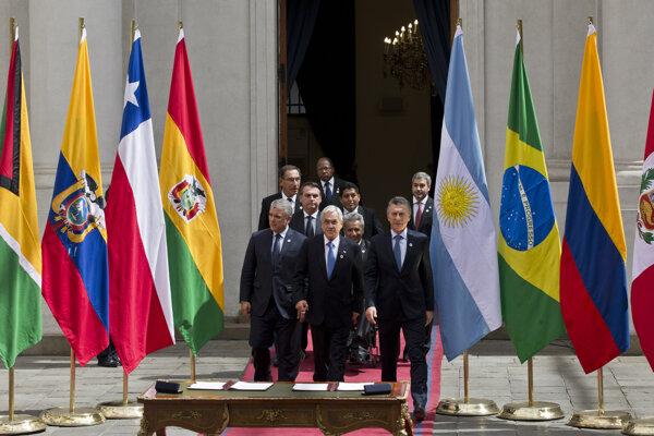 Predstavitelia ôsmich krajín Južnej Ameriky sa dohodli na vytvorení nového regionálneho zoskupenia
