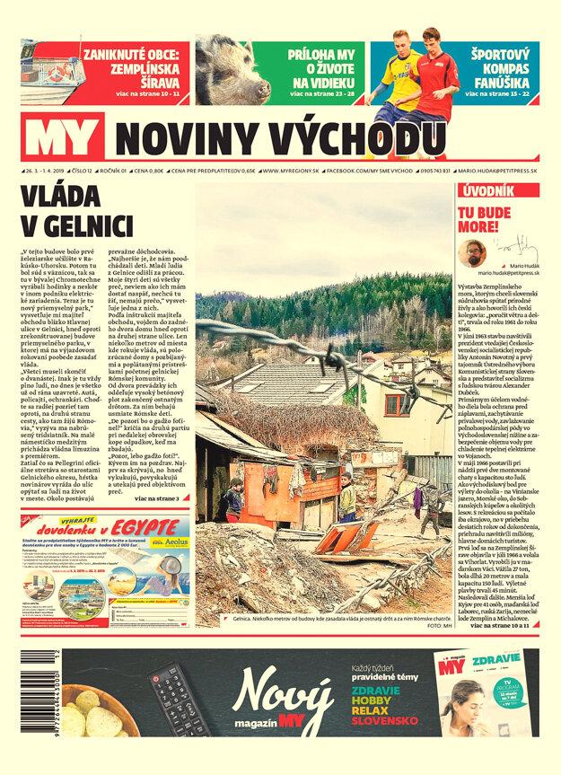 Titulka nového čísla týždenníka MY Noviny východu č.12.
