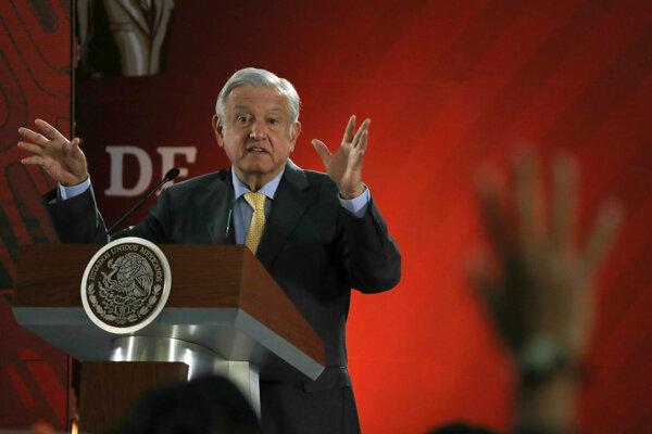 Mexický prezident Andres Manuel Lopez Obrador.