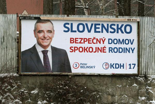 Bilbordová kampaň politickej strany KDH - Peter Belinský.