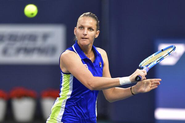Karolína Plíšková vo štvrťfinále turnaja WTA v Miami.