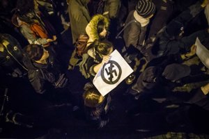 Pochod proti fašizmu v Bratislave.