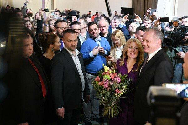 Andrej Kiska mal tiež radosť z víťazstva Zuzany Čaputovej.