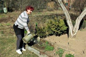 Vlasta Lehocká  z Turčianskych Teplíc sa o tom, komu dá svoj hlas, rozhodovala do poslednej chvíle. Premýšľala i na záhradke.