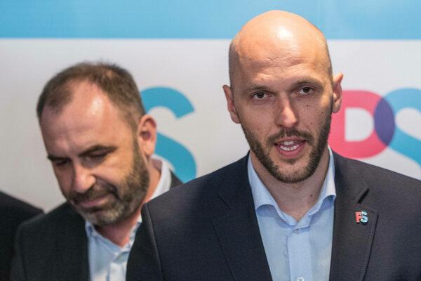 Ivan Štefunko, bývalý predseda PS, a jeho nástupca Michal Truban.