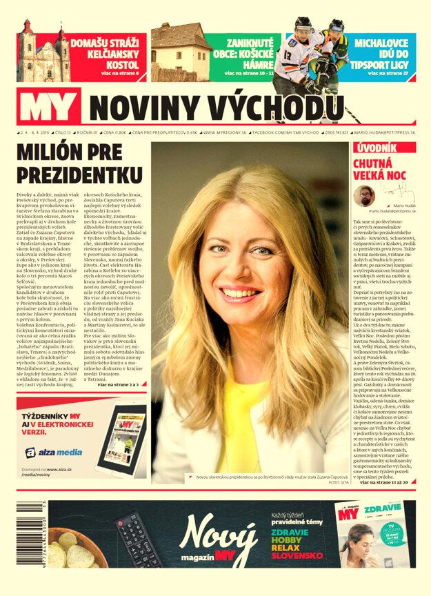 Nové číslo týždenníka My Noviny východu č.13.