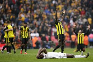Momentka zo zápasu Watford - Wolverhampton.