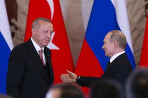 Erdoganova návšteva Ruska, už tretia od začiatku tohto roka.