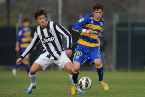Jakub (vľavo) v drese talianskeho veľkoklubu Juventus Turín.