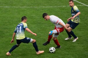 Filip Serečin (vpravo) sa gólovo presadil aj v sobotu proti Svidníku.