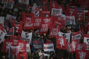 Fanúšikovia Manchester United.