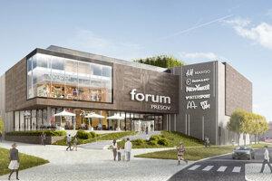 Obchodné centrum Forum by mali dokončiť v septembri 2020.