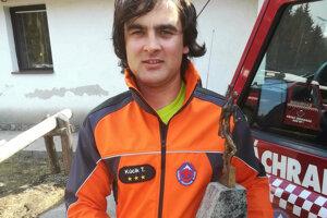 Tomáš Kúcik z Horskej záchrannej služby v Žiarskej doline.