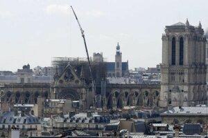 Katedrála Notre-Dame po požiari.