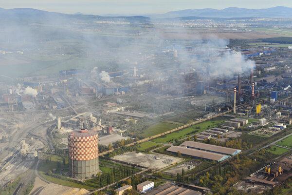 Letecký pohľad na U. S. Steel Košice.
